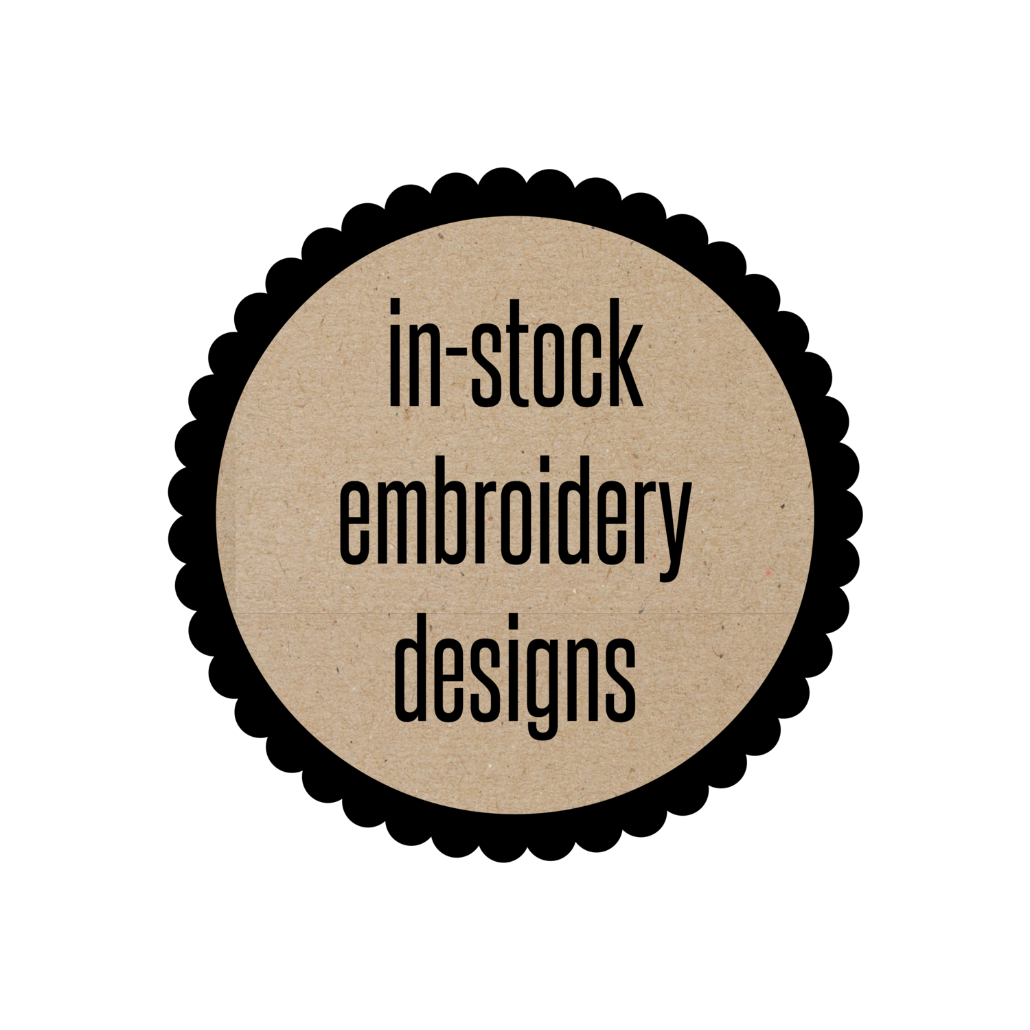 In-Stock Embroidery Designs