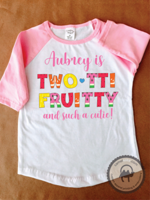 Personalized Tutti Fruity 2nd Birthday Shirt