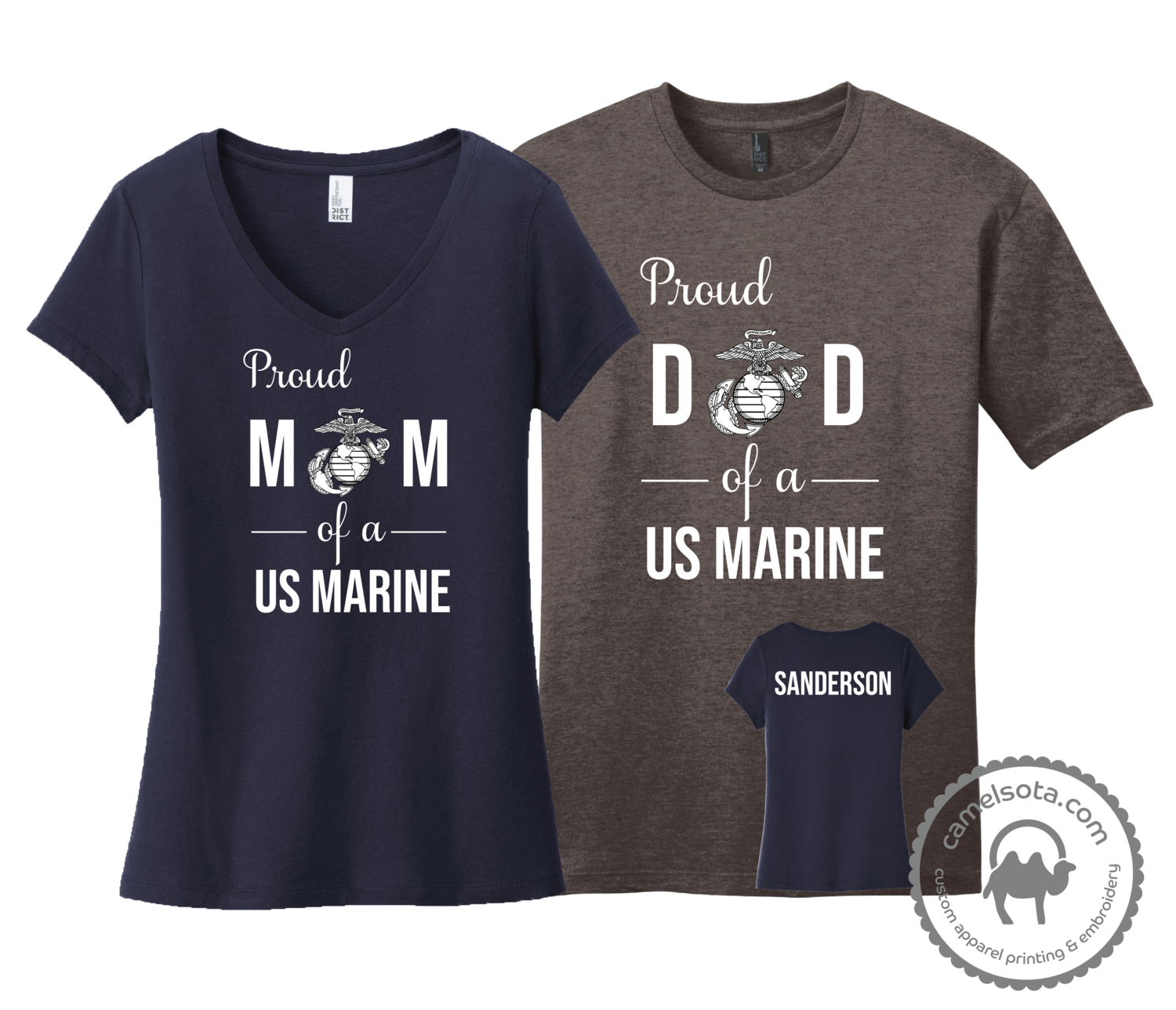 Proud Mom Dad Grandma Grandpa etc of a US Marine Shirt