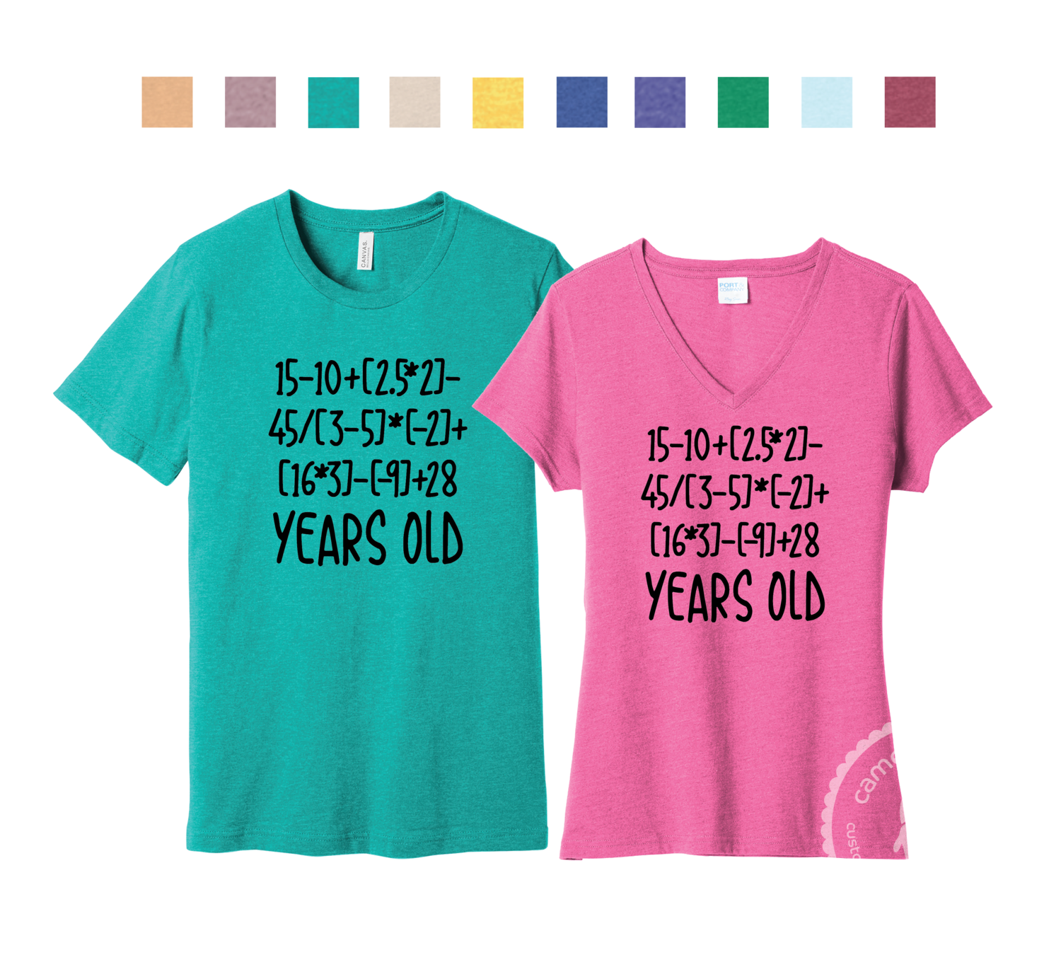 50 Year Old Birthday Equation Tee
