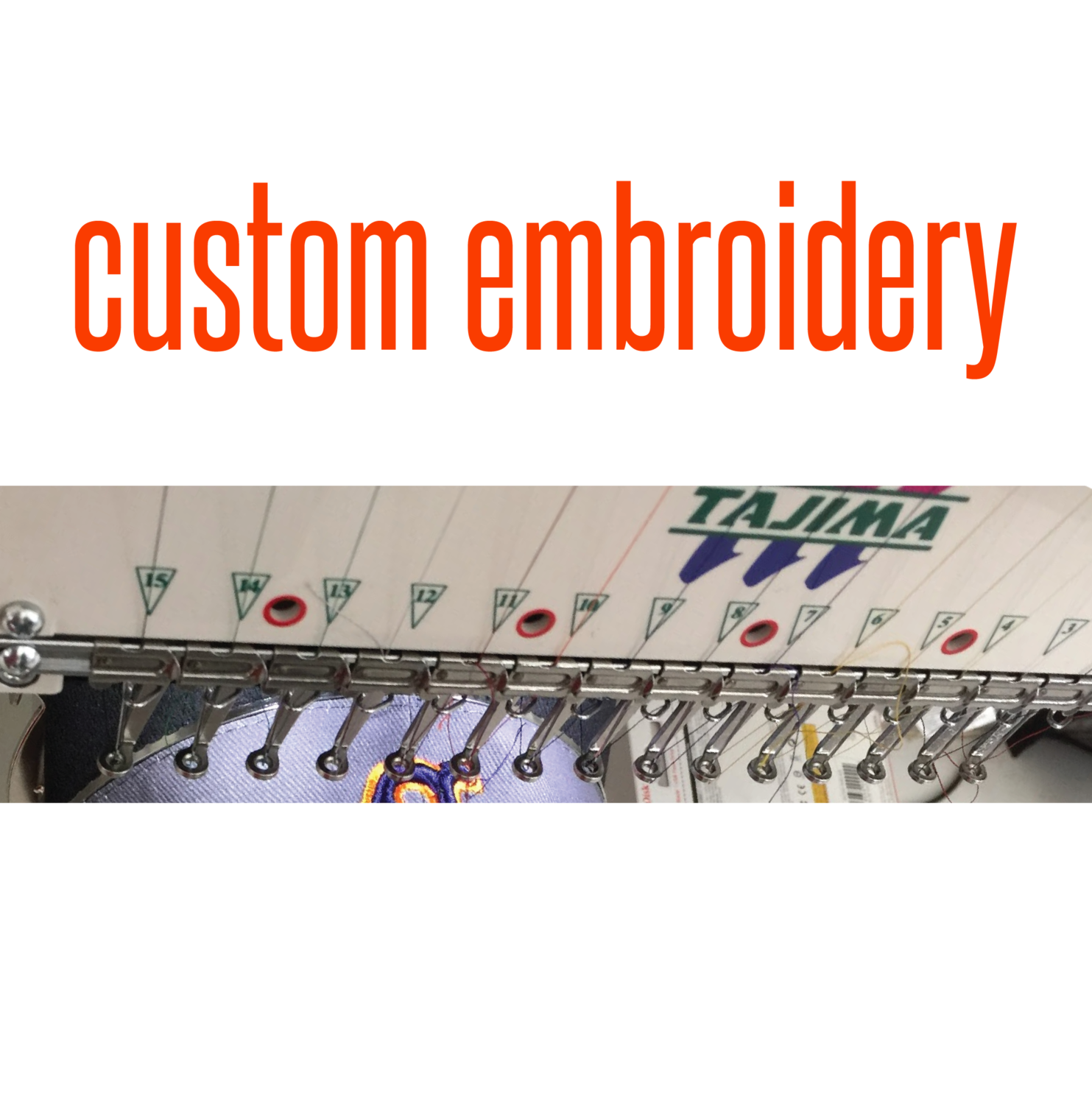 CUSTOM EMBROIDERY - blank apparel separate