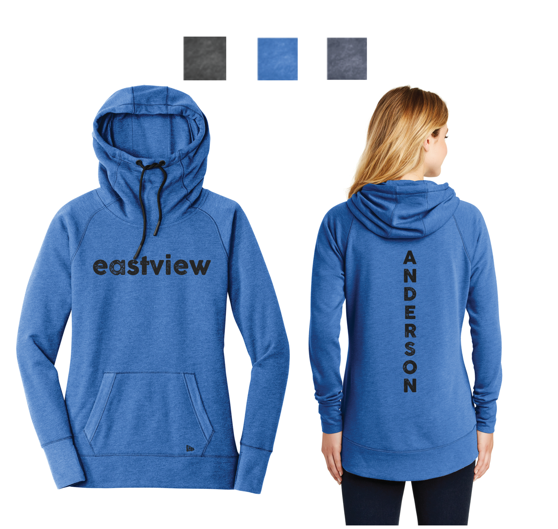 Eastview Lightning - New Era® Ladies Tri-Blend Pullover Hoodie