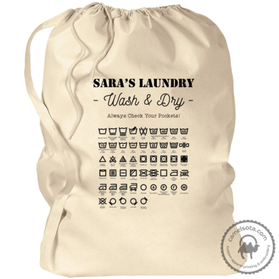Custom Laundry Bag with Laundry Symbols 33.5