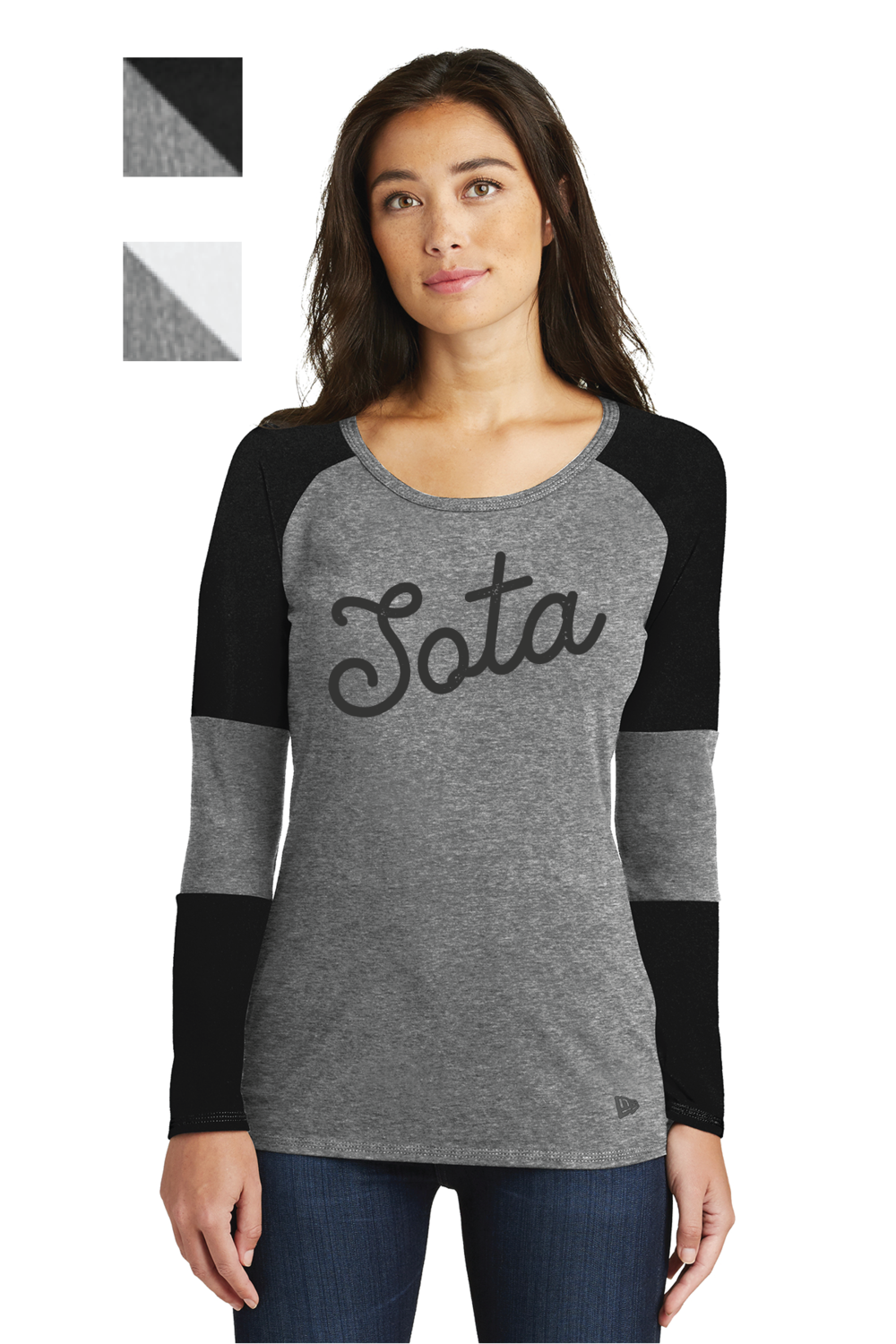 Sota Design Printed on New Era® Ladies Tri-Blend Performance Baseball Tee