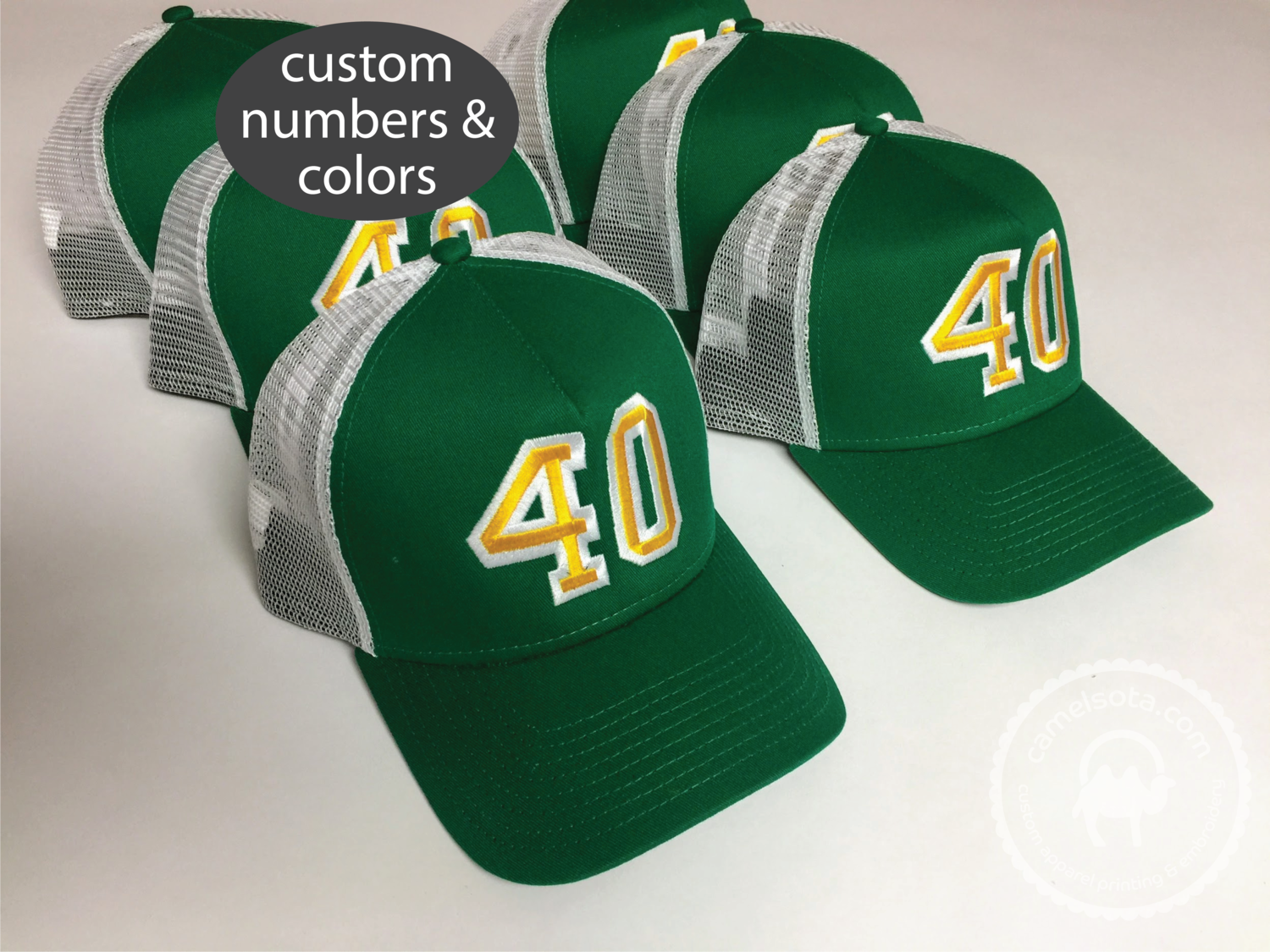 Custom Embroidered Birthday Party Group Hats - New Era Snapback Trucker Cap