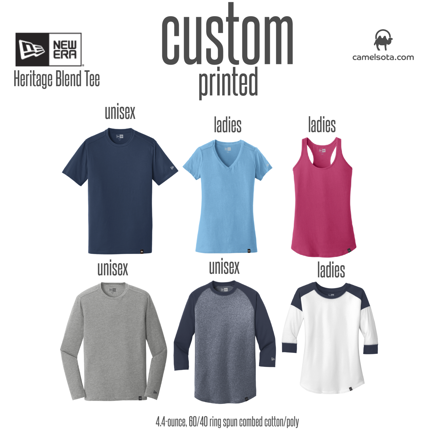 Custom New Era Ladies Heritage Blend Tee