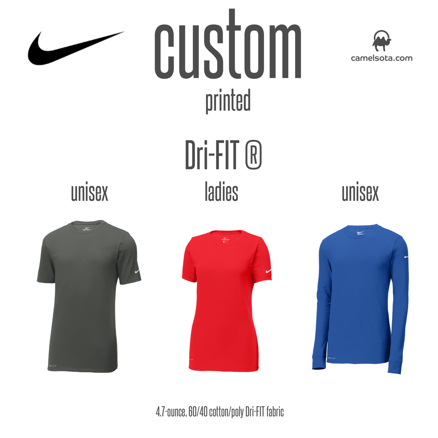 Custom Nike Dri-FIT Cotton/Poly Tee