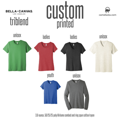 Custom Bella+Canvas Triblend Shirts