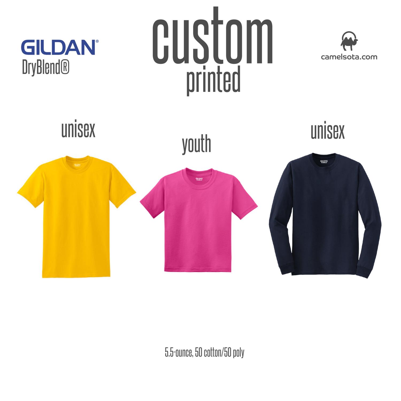 Custom Gildan DryBlend 50 Cotton/50 Poly T-Shirt