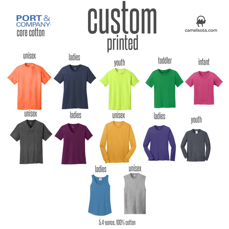 Custom Port & Company - Core Cotton T-Shirt