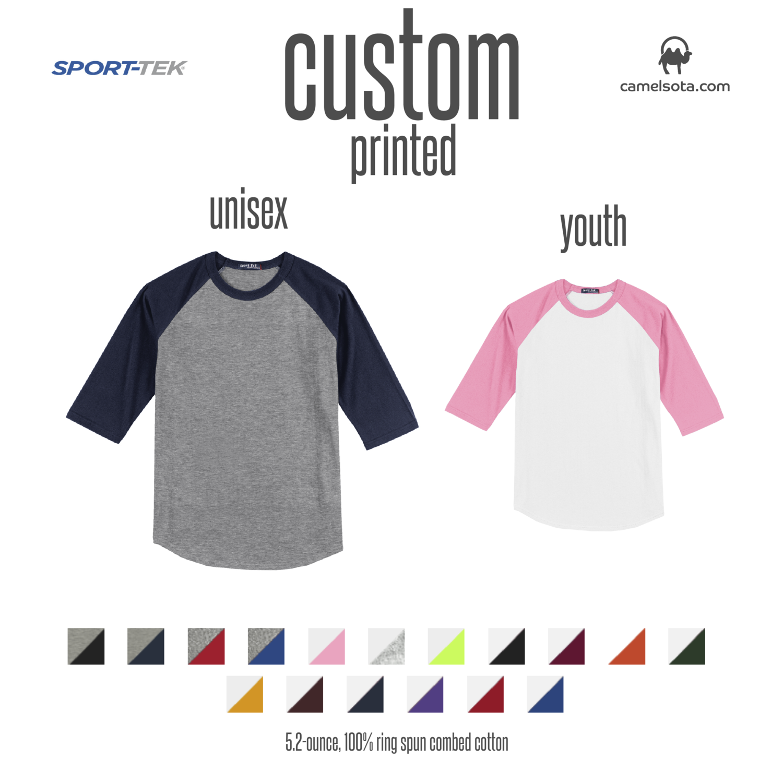 Custom Sport-Tek Colorblock Raglan Jersey
