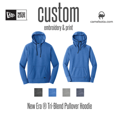 Custom New Era® Tri-Blend Pullover Hoodie