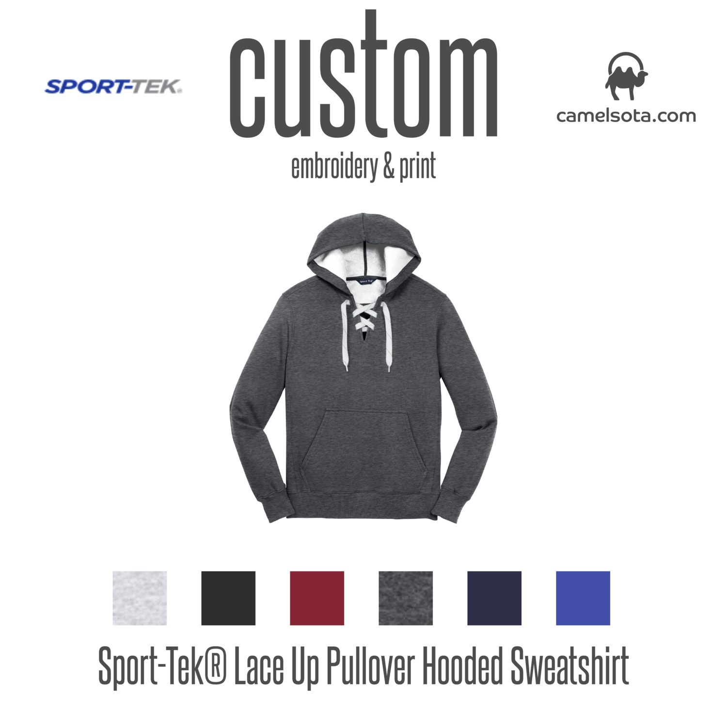 Custom Sport-Tek Lace Up Pullover Hooded Sweatshirt
