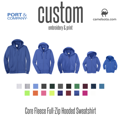 Custom Port & Company - Core Fleece Full-Zip Hooded Sweatshirt