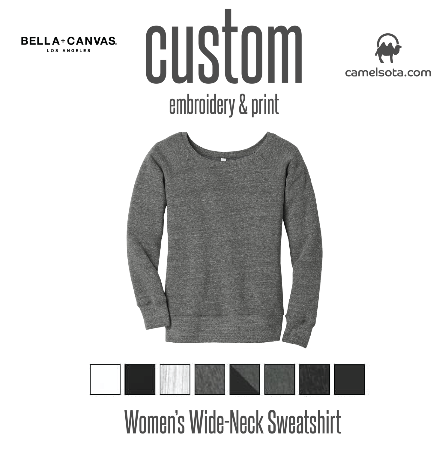 Custom Women's Wide-Neck Sweatshirt