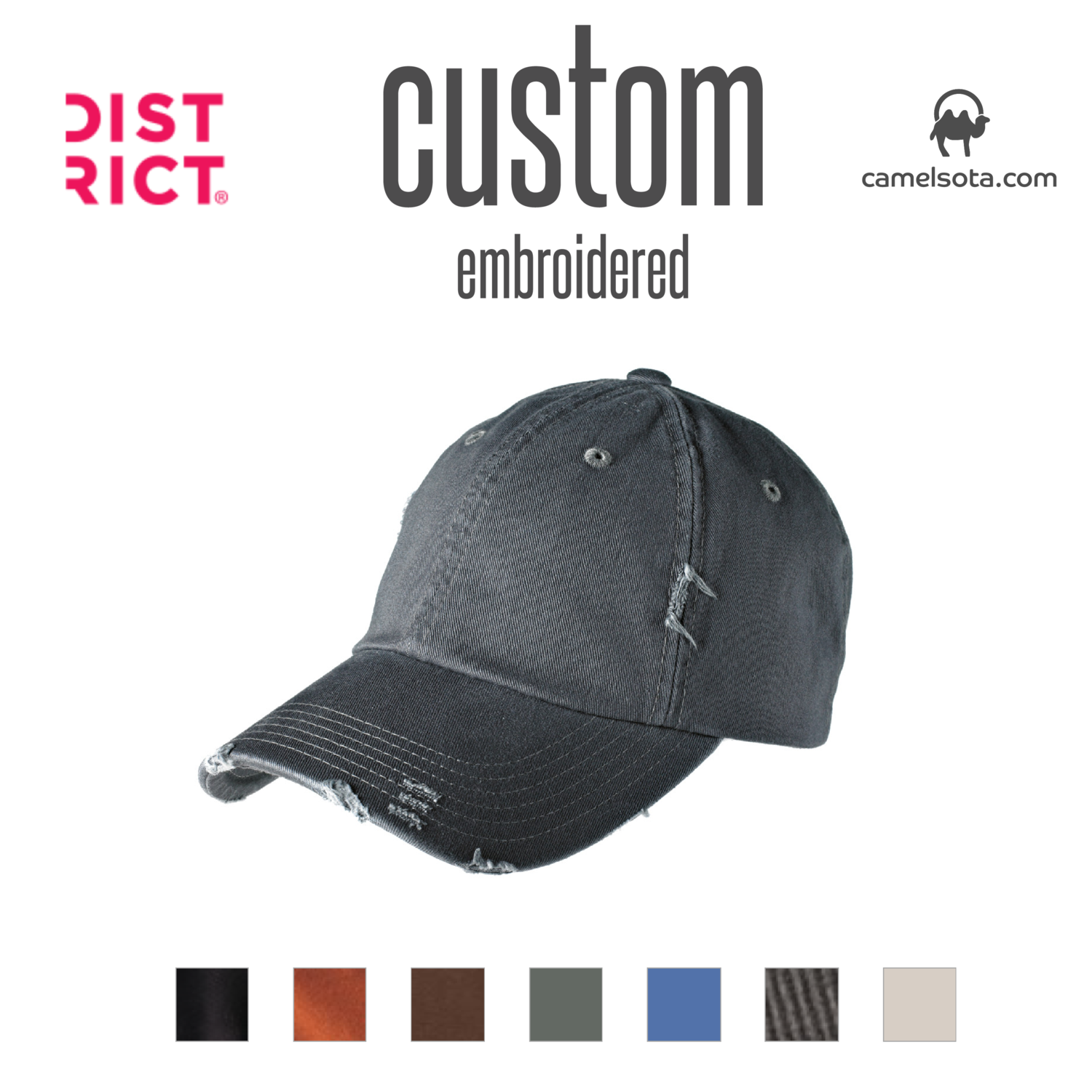 Custom District Distressed Cap