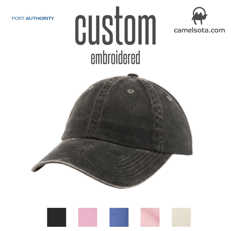 Custom Port Authority® Ladies Garment Washed Cap