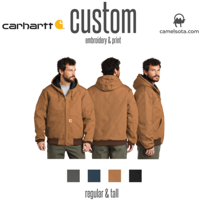 Custom Carhartt Quilted-Flannel-Lined Duck Active Jac