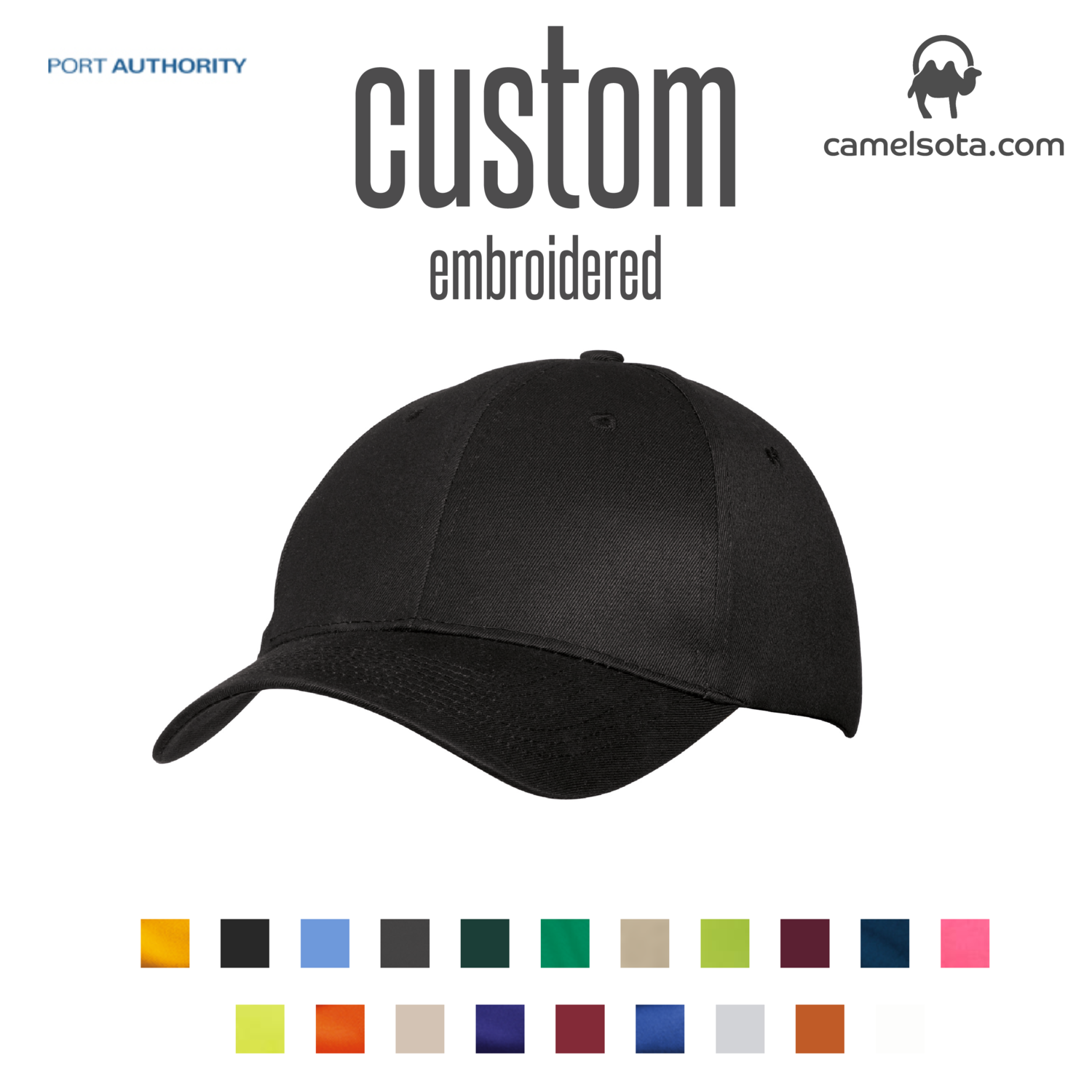 Custom Port & Company® - Six-Panel Twill Cap