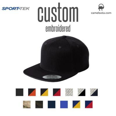 Custom Sport-Tek® YuPoong Flat Bill Snapback Cap
