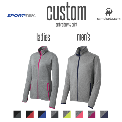 Custom Sport-Tek Sport-Wick® Stretch Contrast Full-Zip Jacket