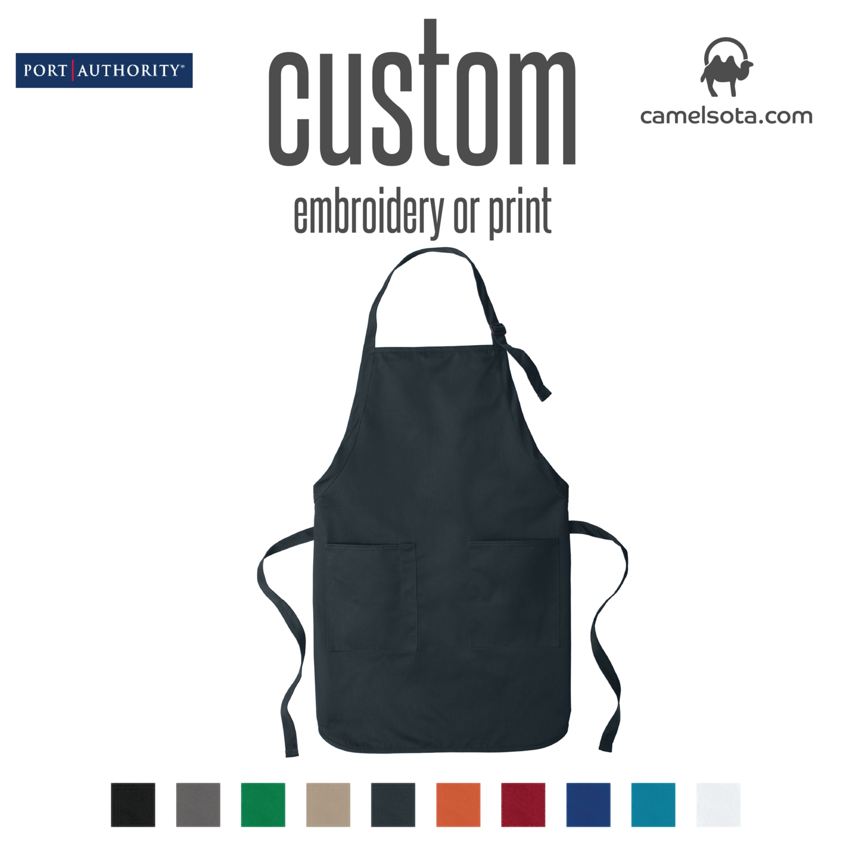 Custom Port Authority Full-Length Two-Pocket Bib Apron