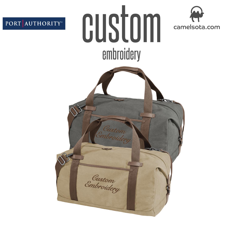 Custom Port Authority ® Cotton Canvas Duffel Bag