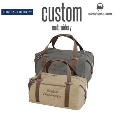 Custom Port Authority ® Cotton Canvas Duffel Bag