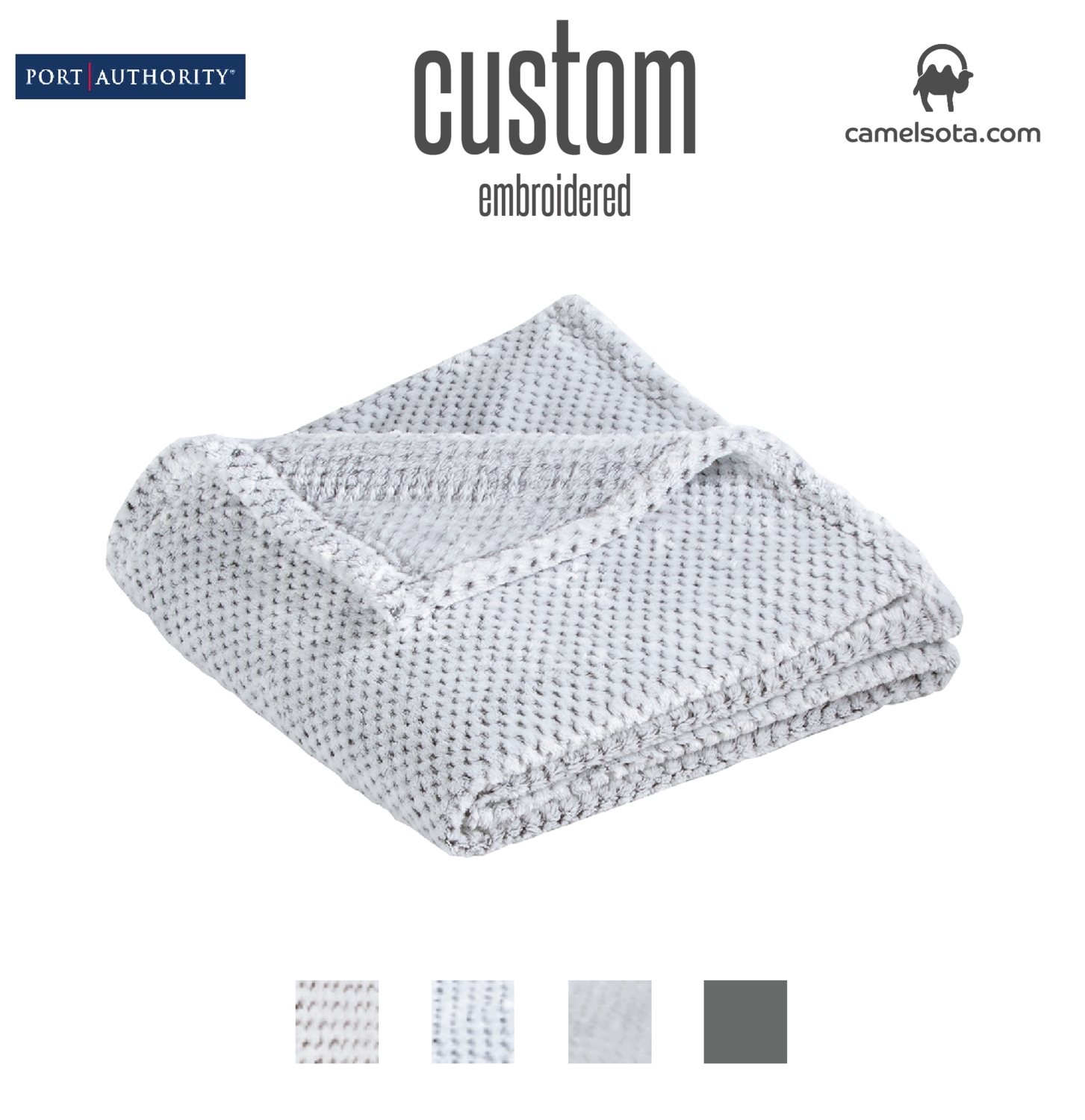 Custom Embroidered Port Authority ® Plush Texture Blanket