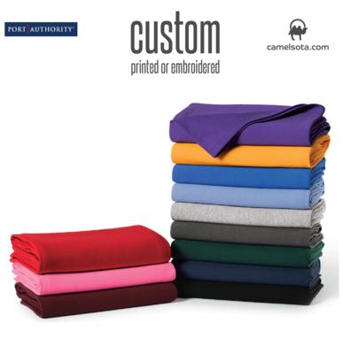 Custom Printed Port & Company® Core Fleece Sweatshirt Blanket