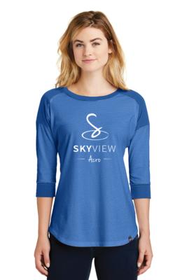New Era® Ladies Heritage Blend Raglan - Skyview Acro Gym