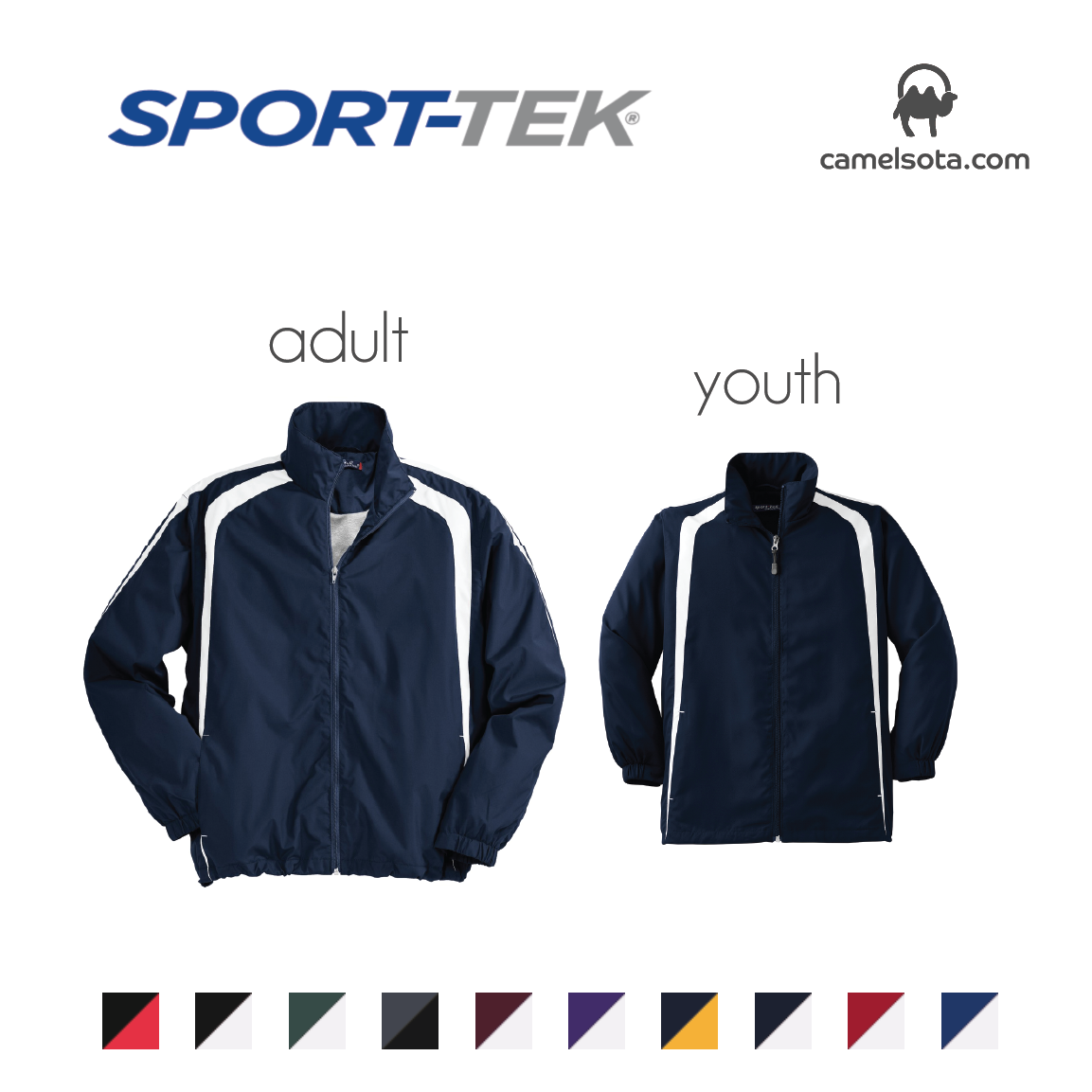 Custom Sport-Tek Colorblock Raglan Jacket