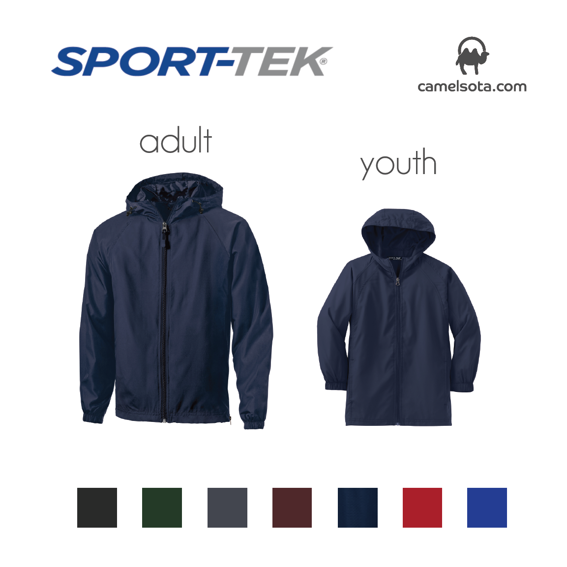 Custom Sport-Tek Hooded Raglan Jacket