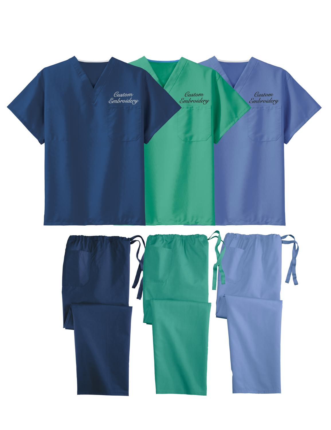 Custom Embroidered CornerStone® - Reversible Scrub Top and Pants