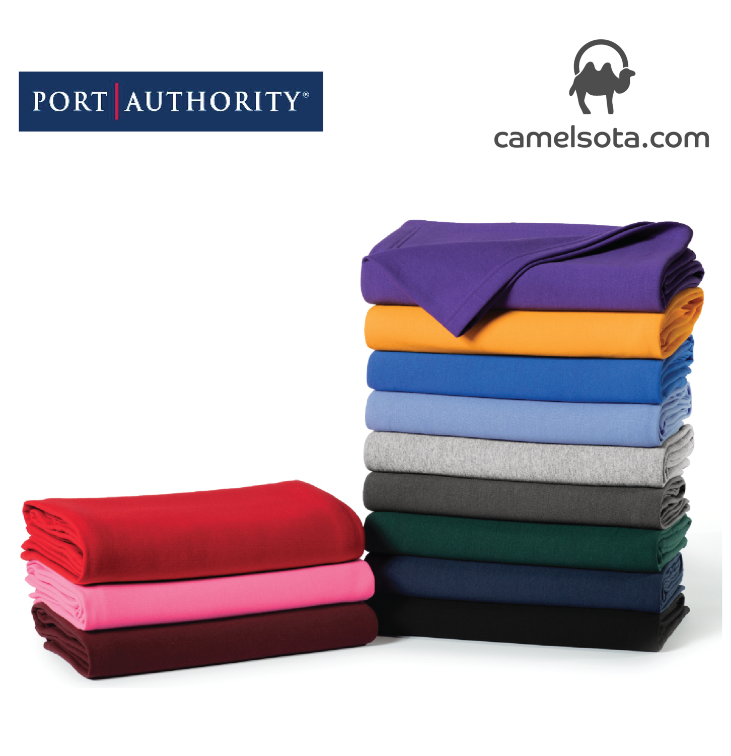 Custom Printed Port & Company Core Fleece Sweatshirt Blanket