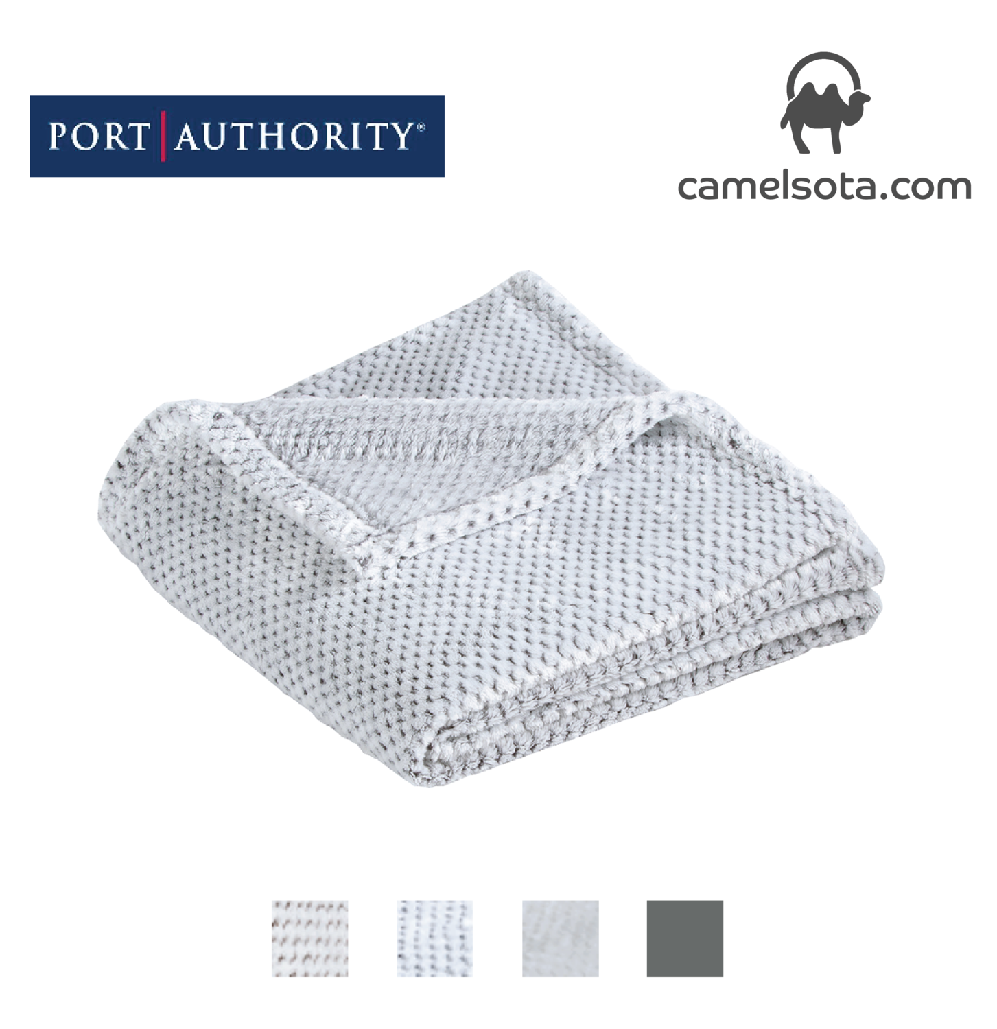 Custom Embroidered Port Authority Plush Texture Blanket