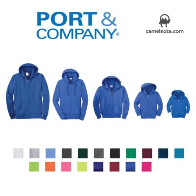 Custom Port & Company - Core Fleece Full-Zip Hooded Sweatshirt