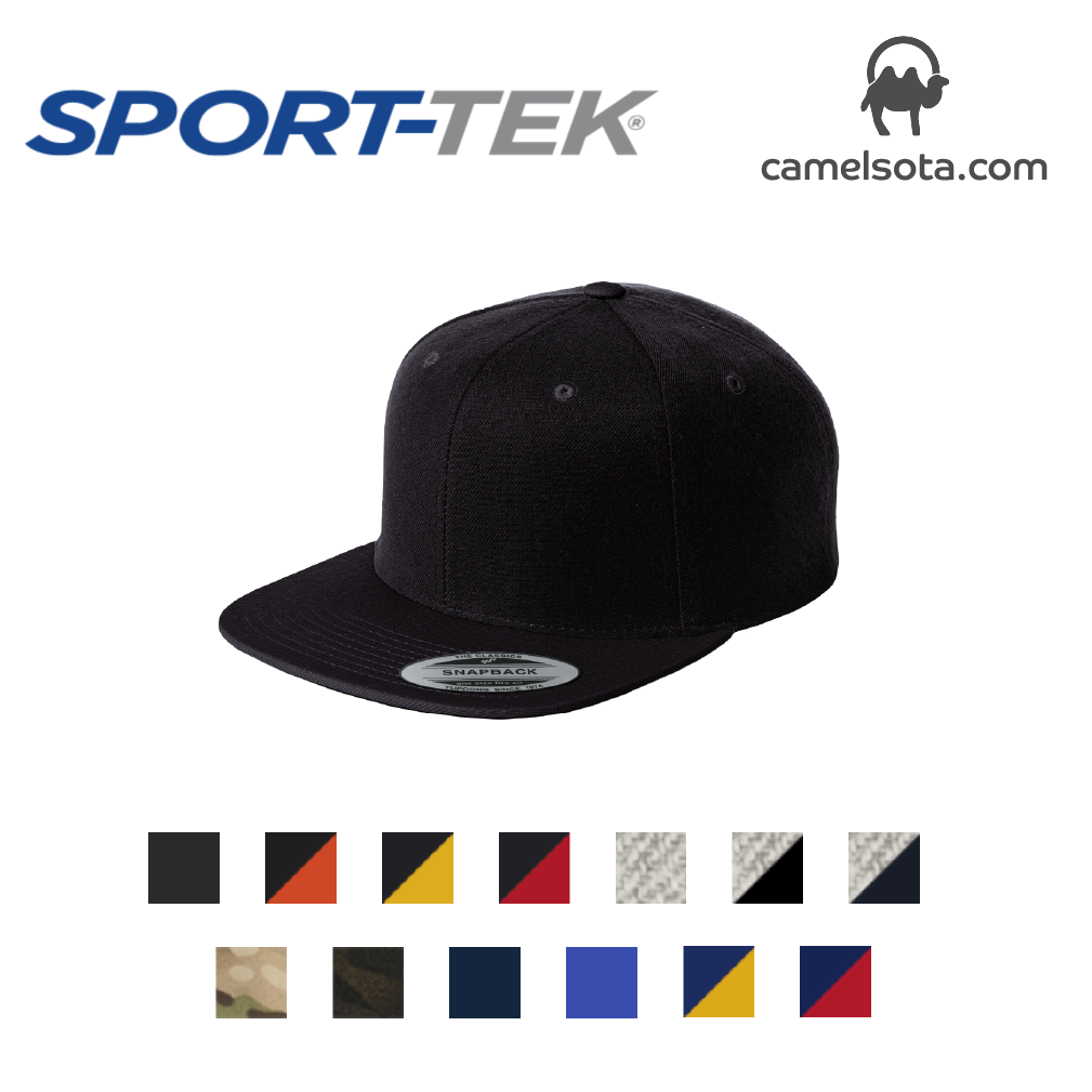 Custom Embroidered Sport-Tek YuPoong Flat Bill Snapback Cap