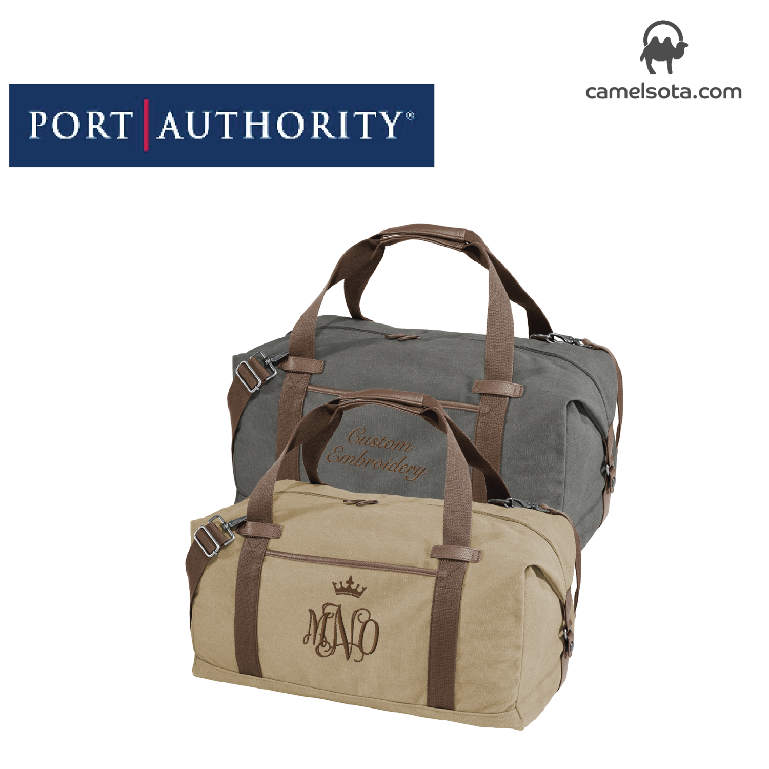Custom Embroidered Port Authority ® Cotton Canvas Duffel Bag