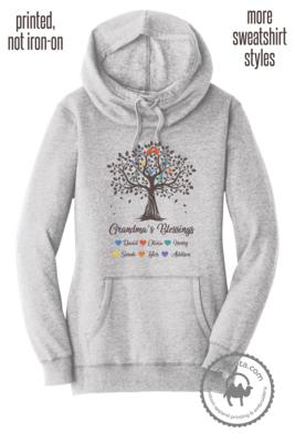 Grandma Tree Blessings Sweatshirt with Grandkids Names