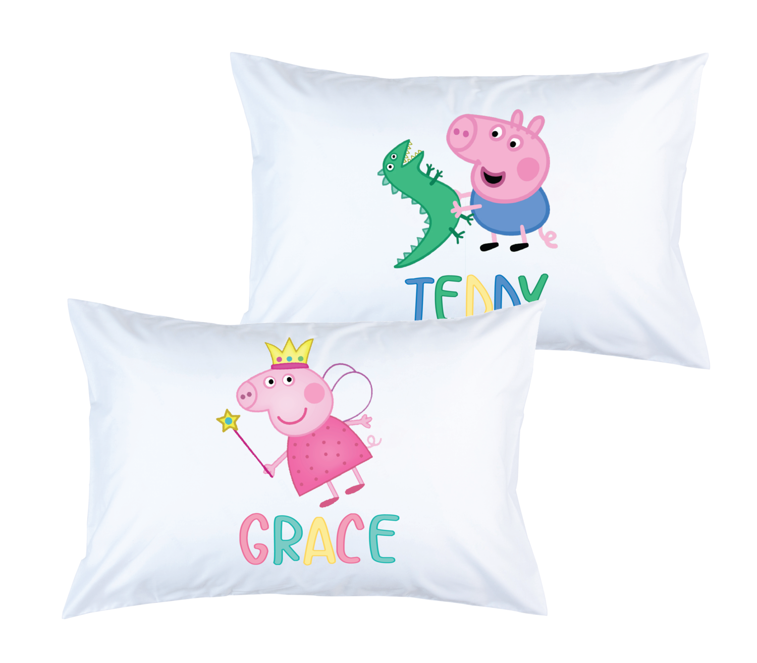 "Custom Peppa Pig Pillowcase, 20""x29"""