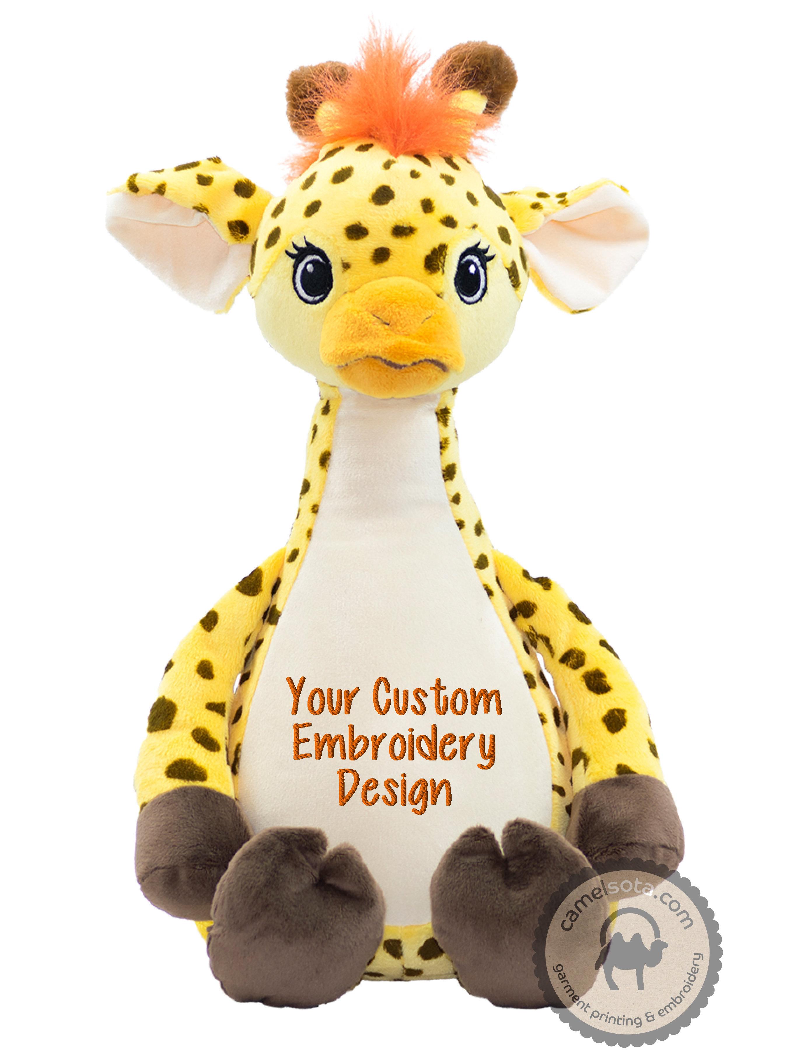 Custom Embroidered Giraffe Cubbie - Tumbleberry Giraffe
