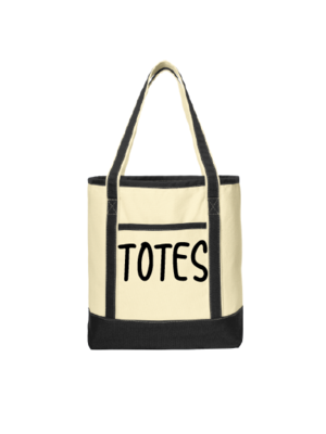 Designs Printed or Embroidered on Totes