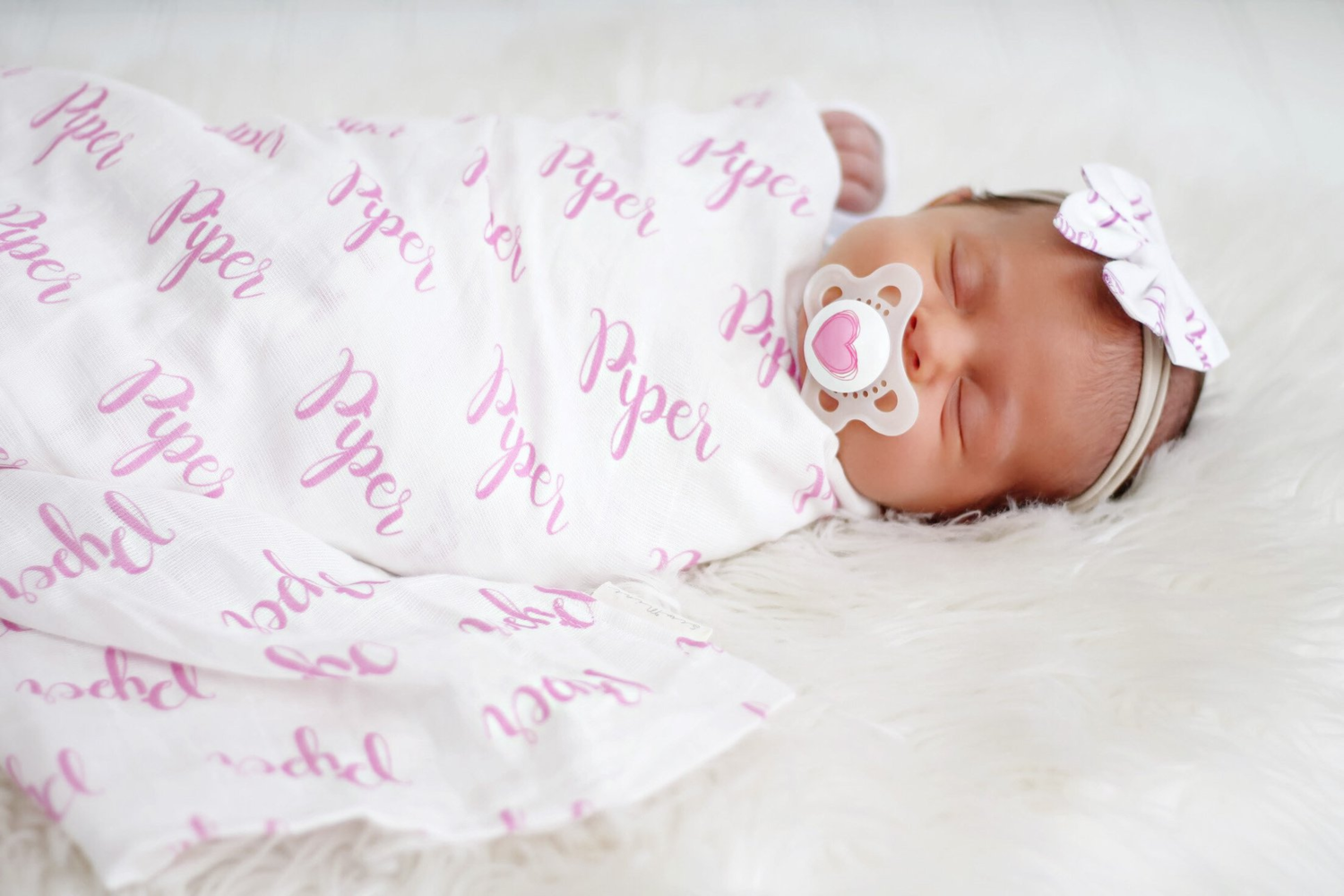 "Custom Printed Double Gauze Baby Swaddle Blanket, 45""x45"""