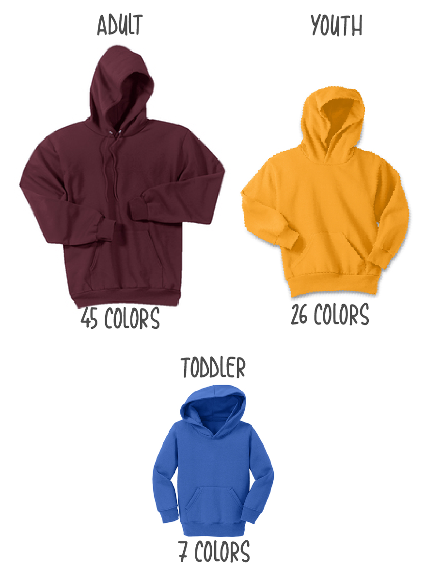 Port & Company® - Core Fleece Hooded Pullover