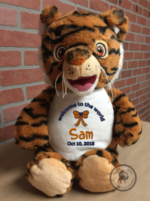 Custom Embroidered Tiger Cubbie - Signature Tiger