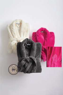 Embroidered Monogrammed Super Plush Robe, Port Authority