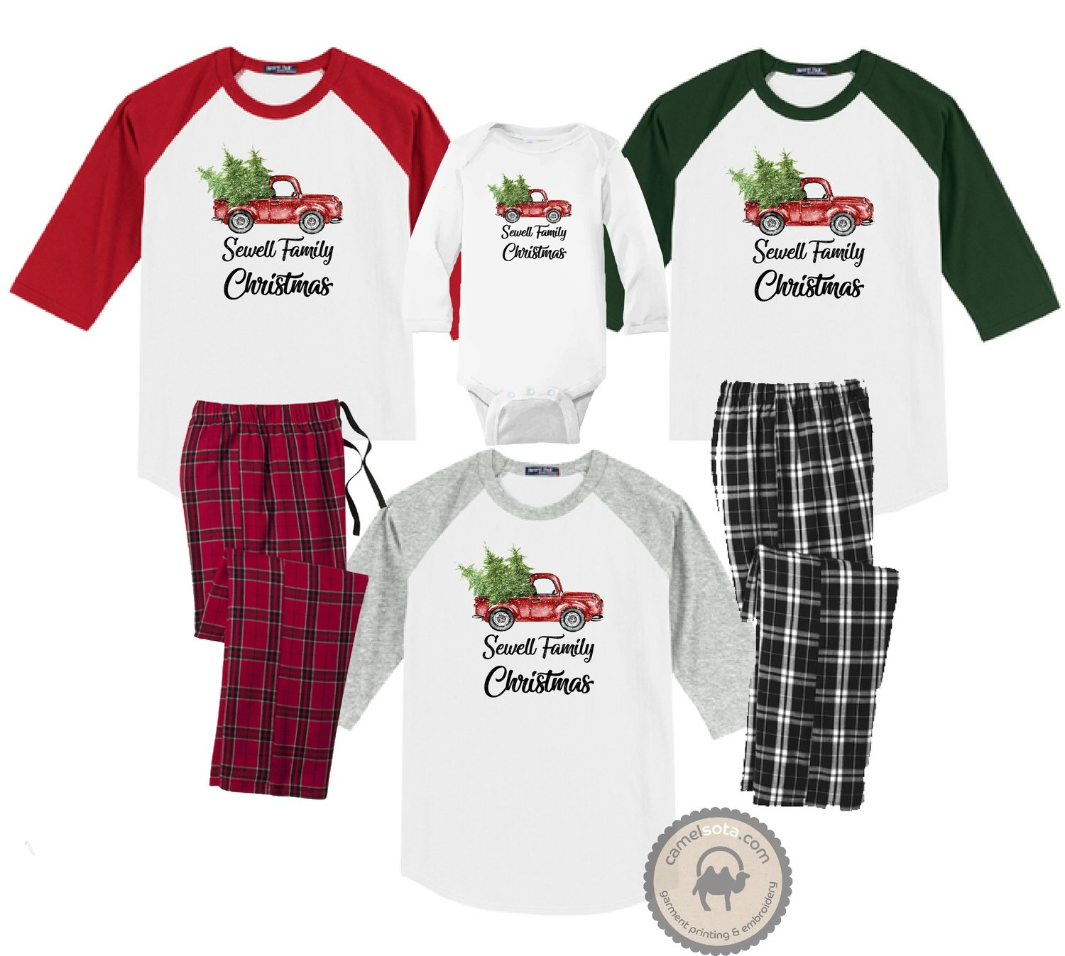 Family Coordinating Christmas Shirts and Pajama Pants