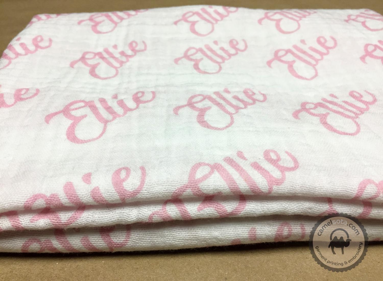 Custom Printed Double Gauze Baby Swaddle Blanket, 45