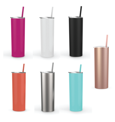 Custom Designs on Double Wall Steel Tumblers - Maars Skinny 20oz